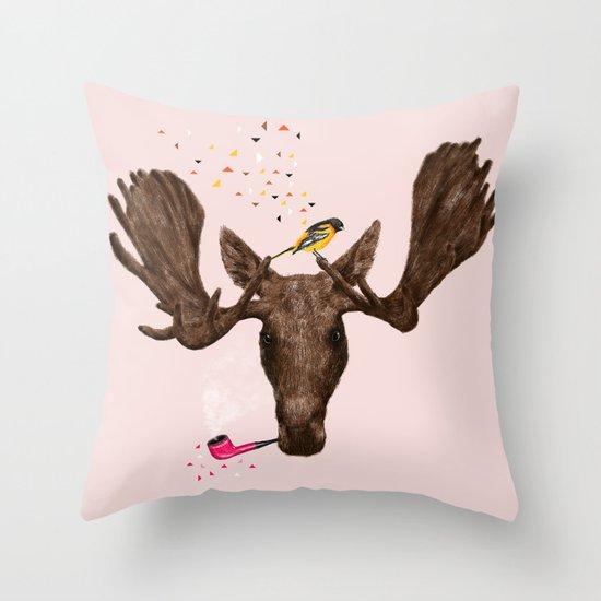 Moose II Throw Pillow