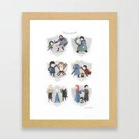 The Teams Of Westeros Framed Art Print
