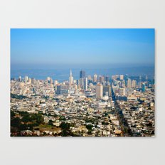 Twin Peaks, San Francisco Canvas Print