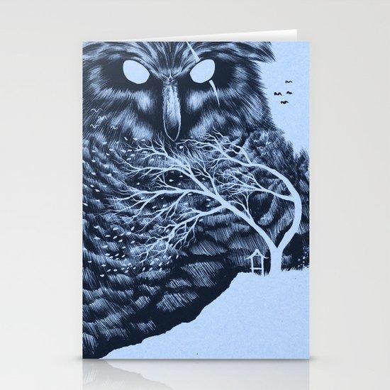 Owl Stationery Card