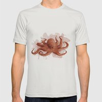 Octopus  Mens Fitted Tee Silver SMALL