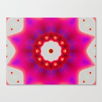Pink Christmas Star Canvas Print