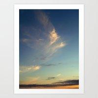 Fish Cloud Art Print