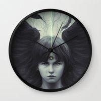 Eye of Raven Wall Clock