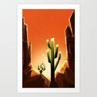 A Prickly Pair In Love Art Print