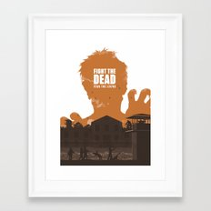 The Walking Dead Prison Walkers Framed Art Print