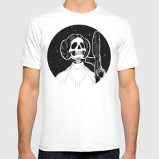 Princess Leia (Stack's Skull Sunday) Mens Fitted Tee White SMALL