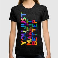 Better Womens Fitted Tee Tri-Black SMALL