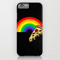 iPhone & iPod Case featuring pizza rainbow by mike boyle