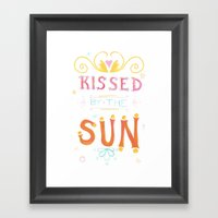 Kissed Framed Art Print