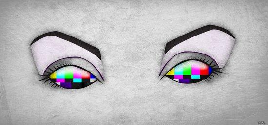 Electric Eyes 1 Art Print