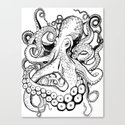 octo illustration Canvas Print