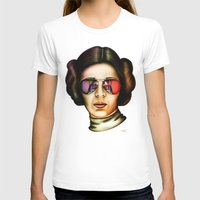 STAR WARS Princess Leia  Womens Fitted Tee White SMALL