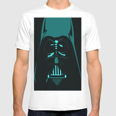 Tron Darth Vader Outline Mens Fitted Tee White SMALL