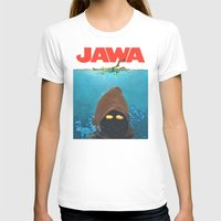 JAWA Womens Fitted Tee White SMALL