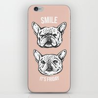 Smile It's Friday Frenchie iPhone & iPod Skin