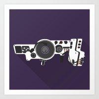 Dub Step Gun Art Print