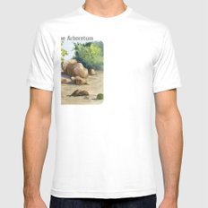 A Walk In the Arboretum Mens Fitted Tee SMALL White