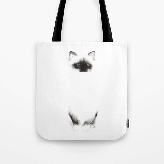 Angora Siamese Cat - Chat Siamois Angora Tote Bag