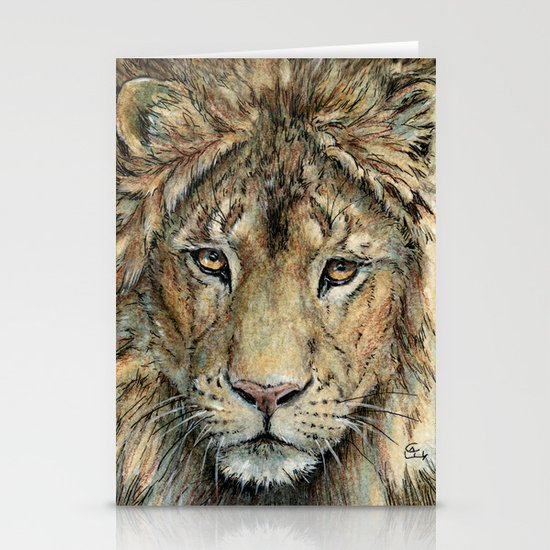 Lion 325 Stationery Card