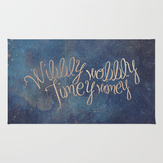 Wibbly Wobbly (Doctor Who Quote) Rug By Marta Lemon