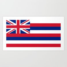 Flag of Hawaii - Authentic High Quality image Art Print