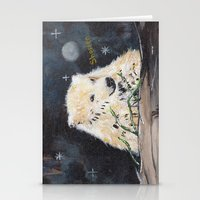 Polar Bear (night Hunt) Stationery Cards