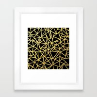 Abstract Outline Thick G… Framed Art Print