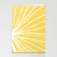 Dandelion in Yellow by Friztin Stationery Cards