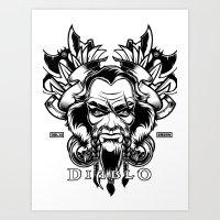 Diablo III. Barbarian Art Print