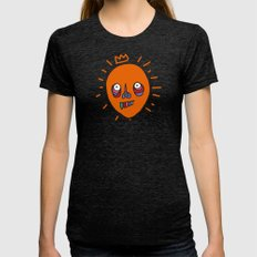 Halloween Balloon Womens Fitted Tee Tri-Black SMALL