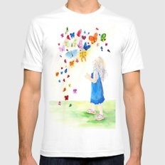 Maggie's Butterflies Mens Fitted Tee White SMALL