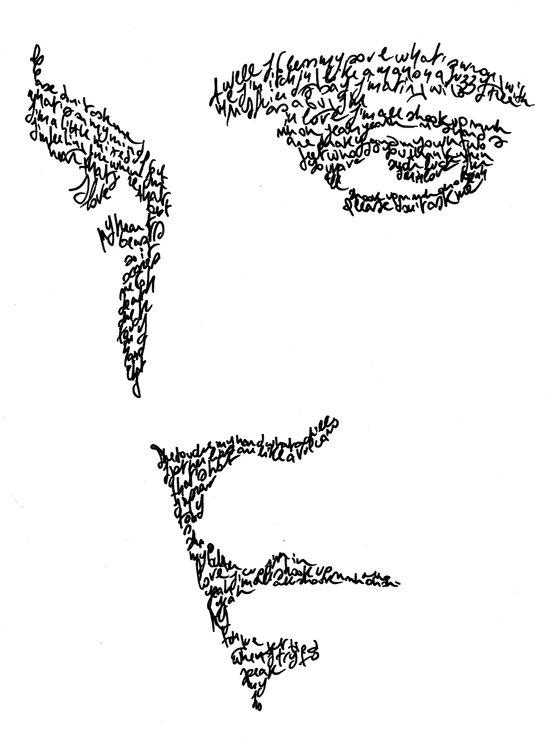 Elvis WordsPortrait  Art Print