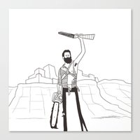 Hail to the Beard, baby Canvas Print