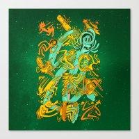 Space Codex 7801 Canvas Print