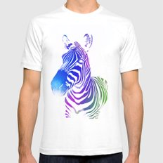 Colourful zebra 2 Mens Fitted Tee White SMALL