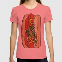 HOT DOG Womens Fitted Tee Pomegranate SMALL