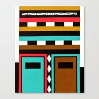 Tribe Mask Canvas Print