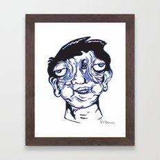 Please Place 3-D Glasses over your vision balls  Framed Art Print