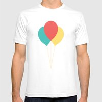 #45 Balloons Mens Fitted Tee White SMALL
