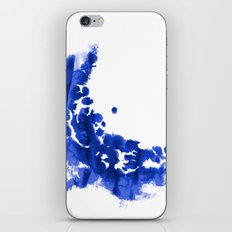Paint 9 abstract indigo watercolor painting minimal modern canvas affordable dorm college art  iPhone & iPod Skin