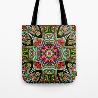 Green Boho Fantasy Pattern Tote Bag