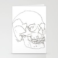 Vamp Skull Stationery Cards
