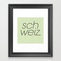 Schweiz//Pistachio   Framed Art Print