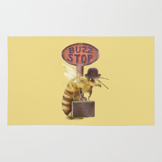 Worker Bee (colour option) Area & Throw Rug