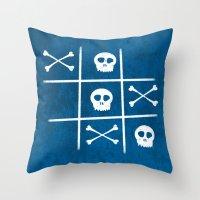 Skull & Bones Throw Pillow