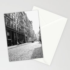 Soho - New York City - Afternoon Light and Cobblestones Stationery Cards