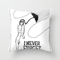 I NEVER FORGET MY UMBRELLA Throw Pillow