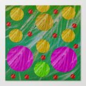 Dots and acrylpaint pattern Canvas Print
