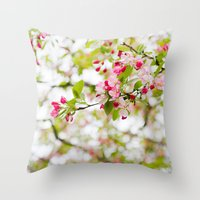 Spring Confetti Blossoms Throw Pillow